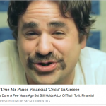 """Funny But True Mr Panos Financial """"Crisis"""" In Greece"""