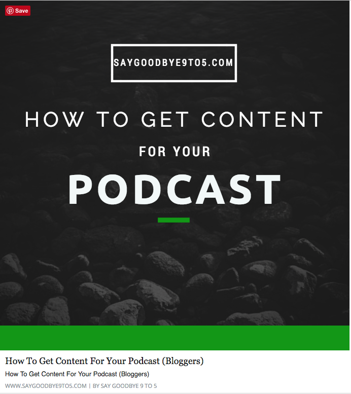 How To Get Content For Your Podcast (Bloggers)